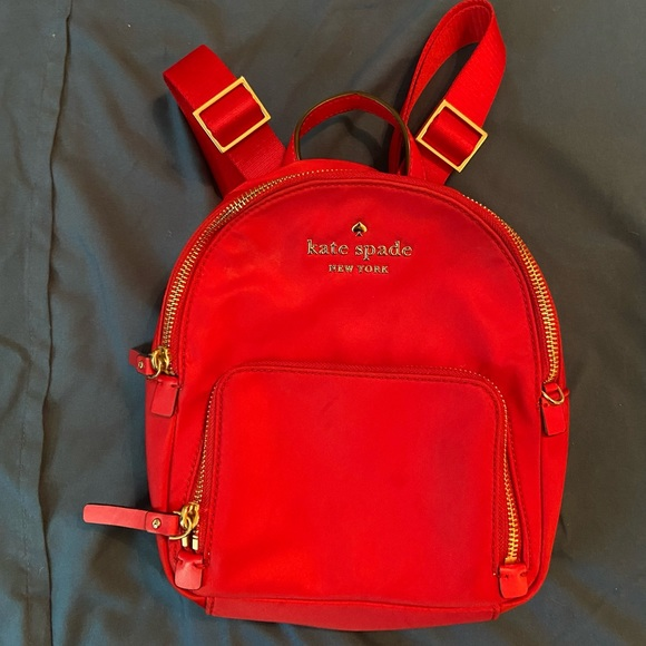 kate spade red backpack